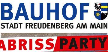 Bauhof Abrissparty, am 16. Oktober, 20 - 01 Uhr